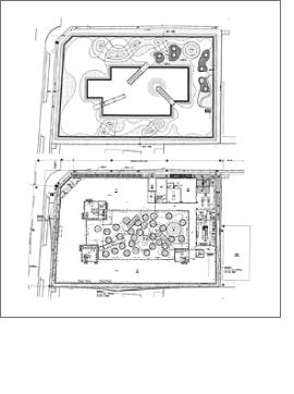 中庭/center park 屋上庭園/sky parkの施工